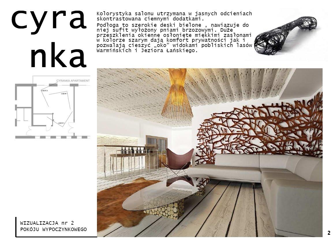 projektowanie wnętrz - Ośrodek Cyranka-Olsztyn